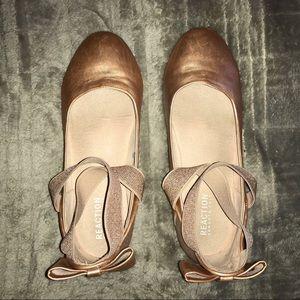 Kenneth Cole Reaction Rose Gold Ballet Flats